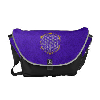 Flower Of Life - Lotus silver gold Courier Bag