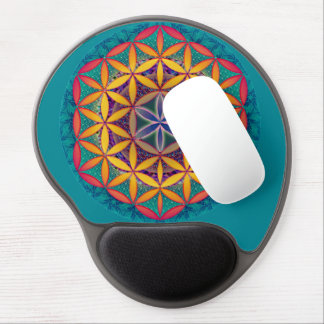 Flower of Life Mandala Gel Mouse Pad