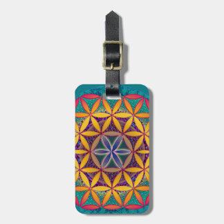 Flower of Life Mandala Luggage Tag