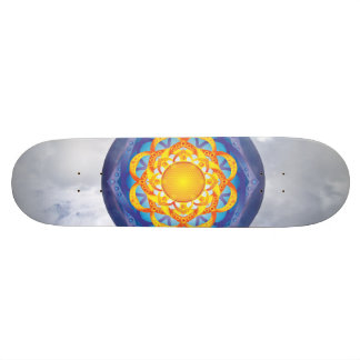 Flower of Life Mandala Skateboard Deck