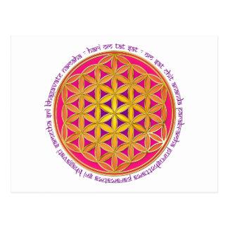 Flower Of Life / Moola Mantra Postcard