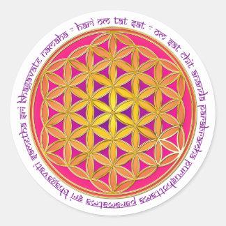 Flower Of Life / Moola Mantra Round Sticker