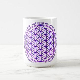 Flower Of Life - Moola Mantra - violet Basic White Mug