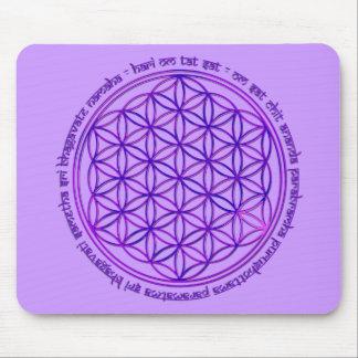 Flower Of Life - Moola Mantra - violet Mouse Pad