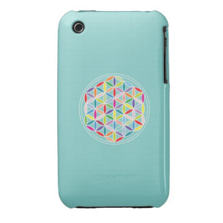 Flower of Life – Multicoloured on Blue iPhone 3 Covers