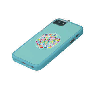 Flower of Life – Multicoloured on Blue Case For iPhone 5/5S