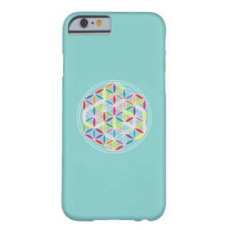 Flower of Life – Multicoloured on Blue Barely There iPhone 6 Case