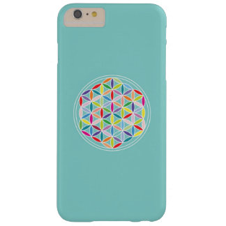 Flower of Life – Multicoloured on Blue Barely There iPhone 6 Plus Case