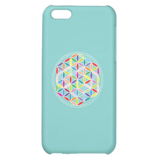 Flower of Life – Multicoloured on Blue iPhone 5C Covers