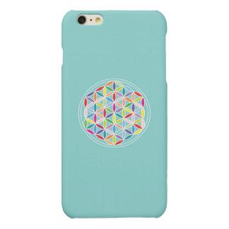 Flower of Life – Multicoloured on Blue