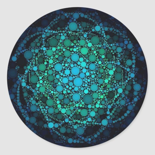 FLOWER OF LIFE ORBS CLASSIC ROUND STICKER