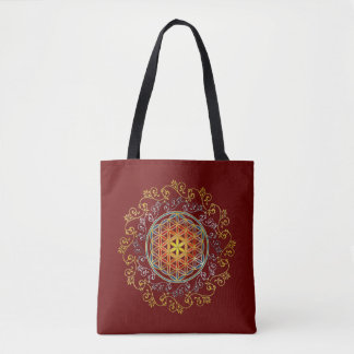 Flower Of Life - ornaments gold silver Tote Bag