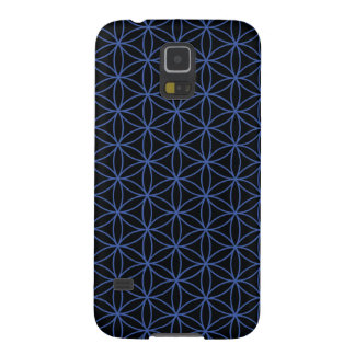 Flower of Life Pattern – Blue on Black Galaxy S5 Cover