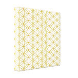 Flower of Life Pattern – Gold on White Canvas Print