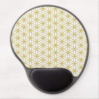 Flower of Life Pattern – Gold on White Gel Mouse Mats
