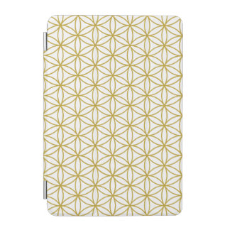 Flower of Life Pattern – Gold on White iPad Mini Cover