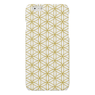 Flower of Life Pattern – Gold on White iPhone 6 Plus Case