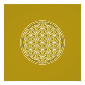Flower of Life Pattern – Golds & White