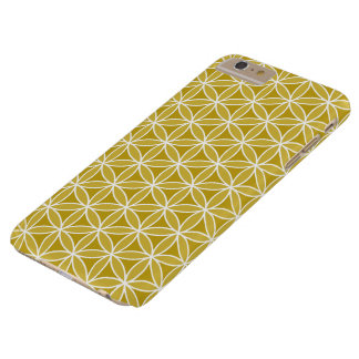 Flower of Life Pattern – Golds & White Barely There iPhone 6 Plus Case