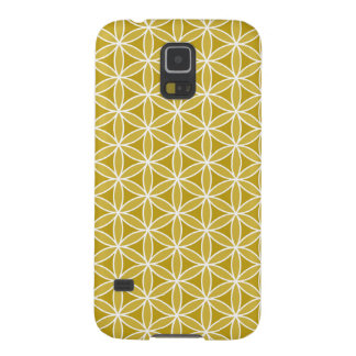 Flower of Life Pattern – Golds & White Galaxy S5 Cover