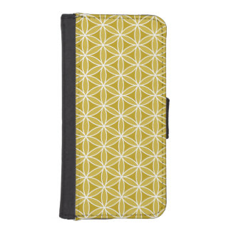 Flower of Life Pattern – Golds & White iPhone SE/5/5s Wallet Case