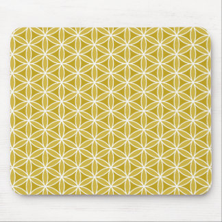 Flower of Life Pattern – Golds & White Mouse Pads