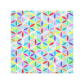 Flower of Life Pattern – Multicoloured Canvas Prints