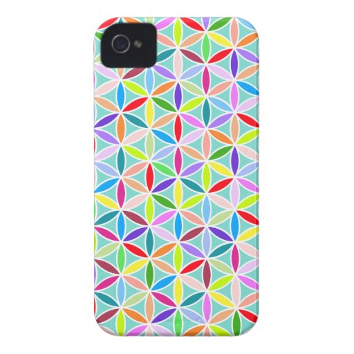 Flower of Life Pattern – Multicoloured iPhone 4 Cases