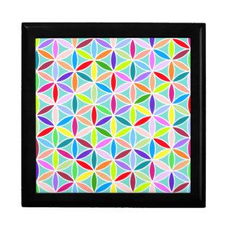 Flower of Life Pattern – Multicoloured Gift Box