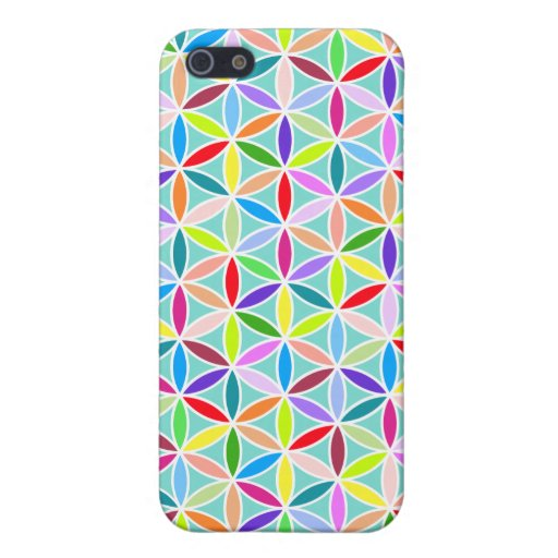 Flower of Life Pattern – Multicoloured iPhone 5 Covers