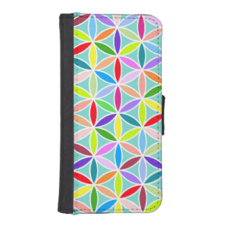 Flower of Life Pattern – Multicoloured iPhone SE/5/5s Wallet Case