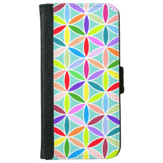 Flower of Life Pattern – Multicoloured iPhone 6 Wallet Case