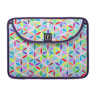 Flower of Life Pattern – Multicoloured Sleeve For MacBook Pro