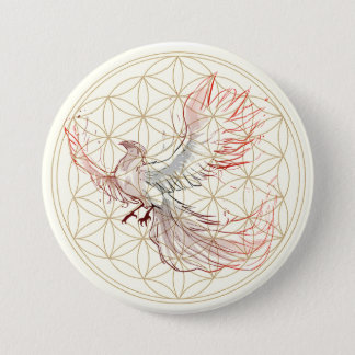 Flower of Life Phoenix Large Button