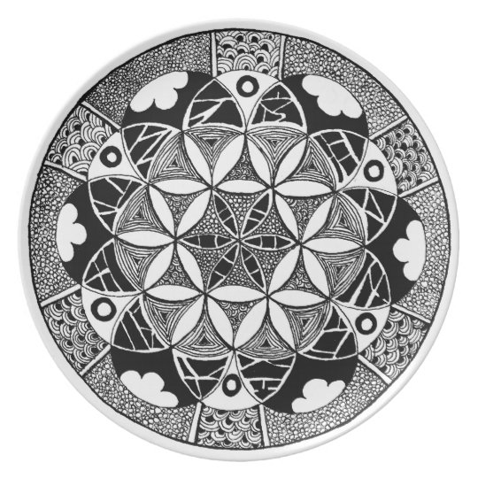 Flower of Life plate