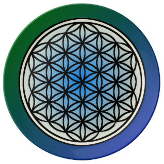 Flower of Life Porcelain Plate
