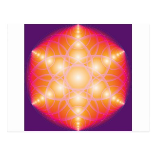 Flower Of Life Post Card