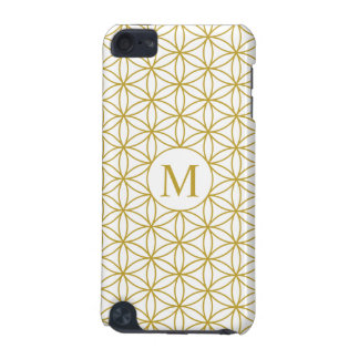 Flower of Life Ptn (Personalised) – Gold on White iPod Touch 5G Covers
