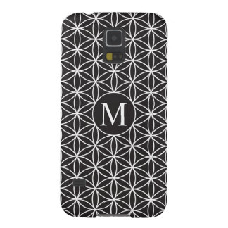 Flower of Life Ptn (Personalised) – White on Black Case For Galaxy S5