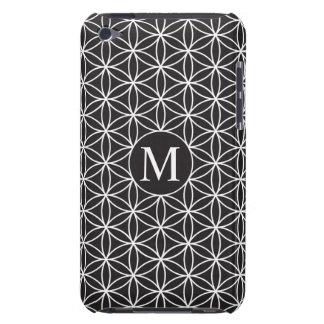 Flower of Life Ptn (Personalised) – White on Black iPod Case-Mate Case