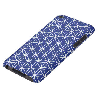 Flower of Life Ptn White on Blue Case-Mate iPod Touch Case