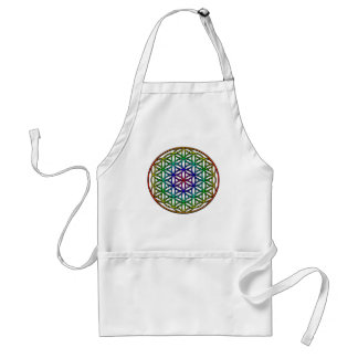 Flower of Life rainbow sacred geometry symbol Aprons