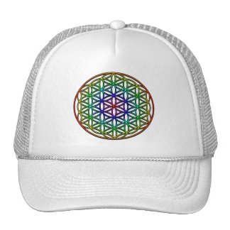 Flower of Life (rainbow) sacred geometry symbol Cap