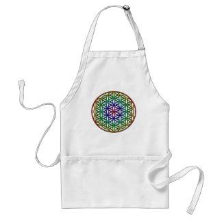 Flower of Life (rainbow) sacred geometry symbol Standard Apron