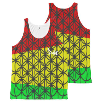 FLOWER OF LIFE RASTA COLOURED VEST TANK TOP BY DMT
