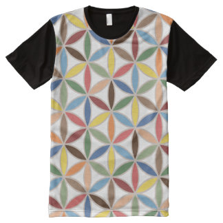 Flower of Life Retro Color Big Pattern All-Over Print T-Shirt