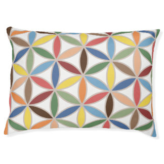 Flower of Life Retro Color Large Pattern