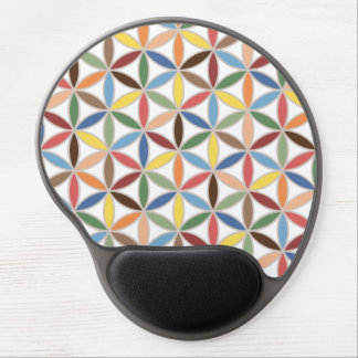 Flower of Life Retro Color Pattern Gel Mouse Pad