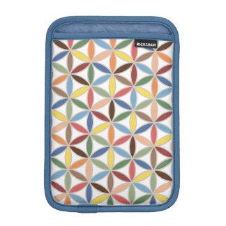 Flower of Life Retro Color Pattern iPad Mini Sleeve