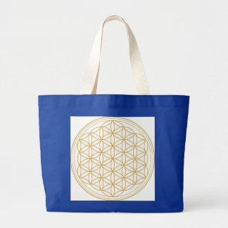 Flower Of Life Sacred Geometry Jumbo Tote Bag